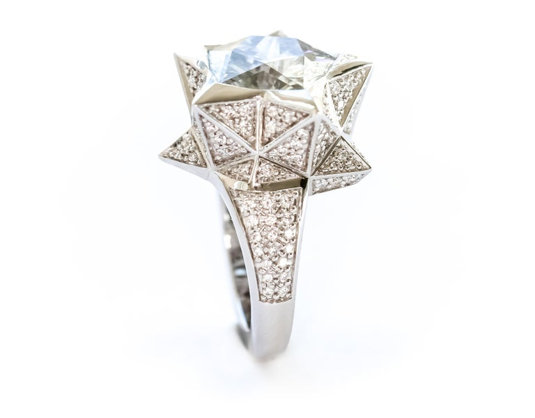 Star Engagement Ring In New Condition For Sale In Coral Gables, FL