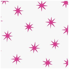 Stars in Magenta on Smooth Paper