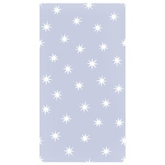 Stars in Zen Blue on Smooth Wallpaper