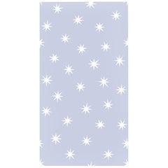 Stars in Zen Blue on Smooth Wallpaper