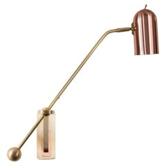 Stasis Wall Light, Brass +  Polished Copper by Bert Frank