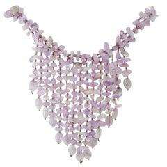 Statement amethyst necklace