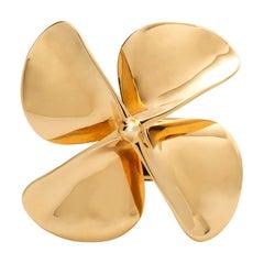 Statement Fidget Spinner 18 Karat Yellow Gold Ringx
