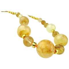 Statement Gold Quartz Necklace