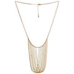 Statement Multi Snake Chain Gold-Plated Brass Greek Necklace