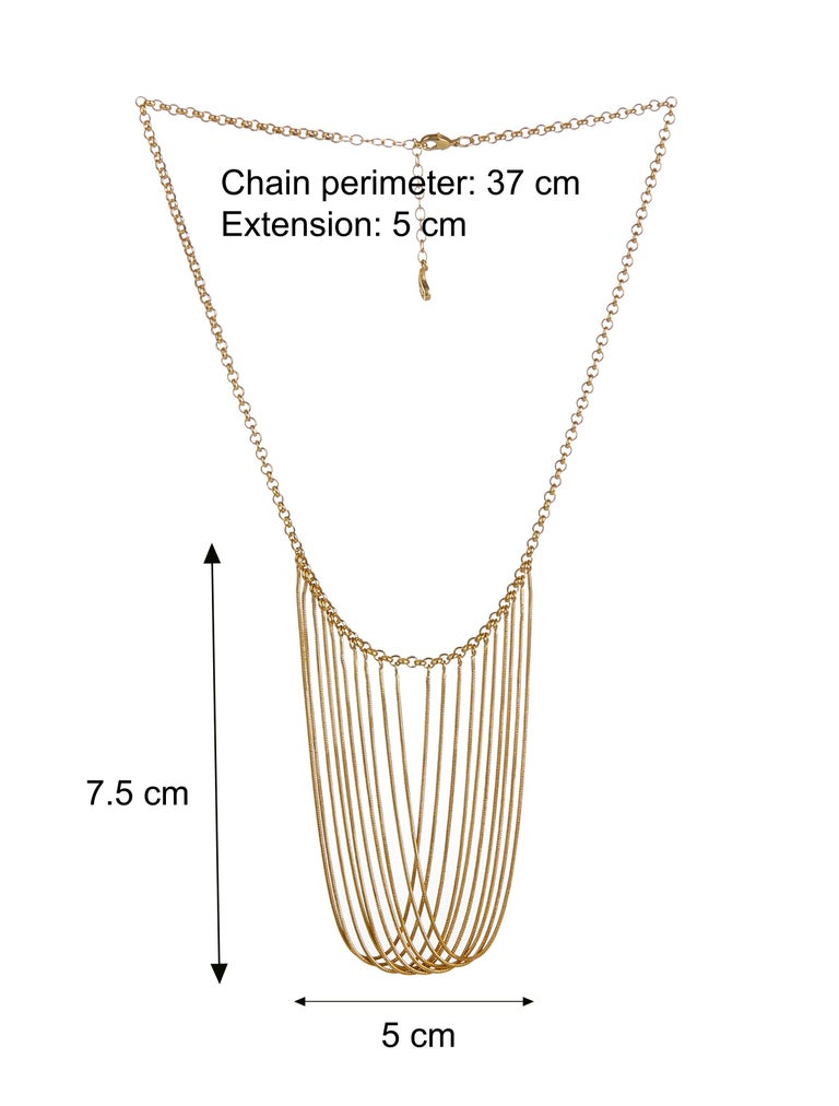 Statement Multi Snake Chain Rose Gold-Plated Brass Greek Necklace In New Condition For Sale In Athens, GR
