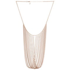 Statement Multi Snake Chain Rose Gold-Plated Brass Greek Necklace