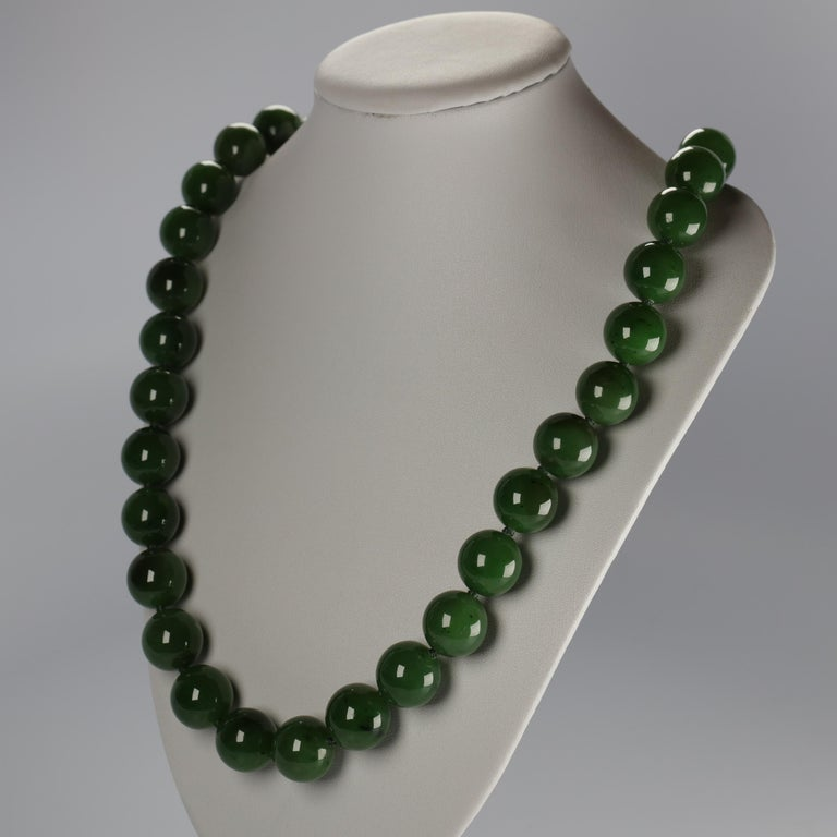 Contemporary Statement Necklace of Jade, Gold and Diamonds For Sale
