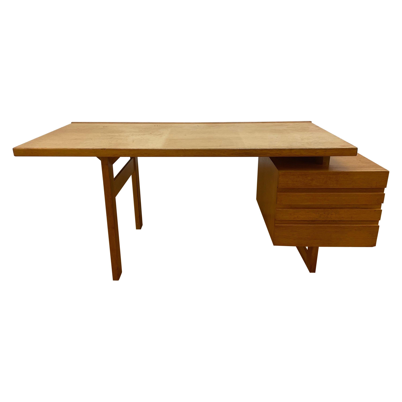 Statement Scandinavian Modern Executive Desk