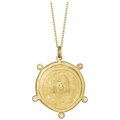 Stater Radiance Necklace, 18 Karat Yellow Gold with Diamond