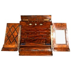 Stationary Cabinet, Writing Box, Walnut, circa 1870