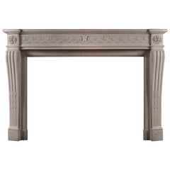 Statuary Marble French Louis XVI Style Mantel