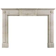 Statuary Marble Louis XVI Style Fireplace