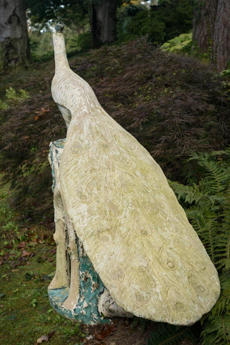 Statue of a Large Peacock For Sale 4