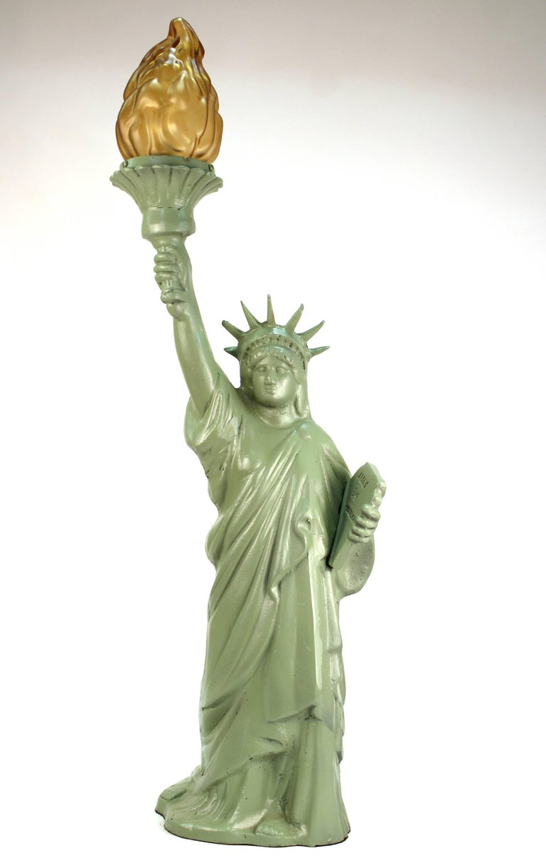 Statue Of Liberty Iron Table Lamp For Sale At 1stdibs
