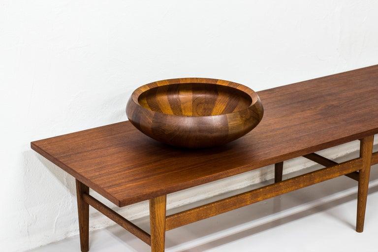 European Staved Teak Bowl by Jens H. Quistgaard for Dansk Design, Denmark For Sale