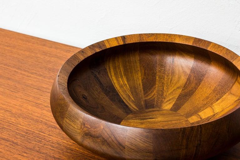 Staved Teak Bowl by Jens H. Quistgaard for Dansk Design, Denmark In Good Condition For Sale In Stockholm, SE