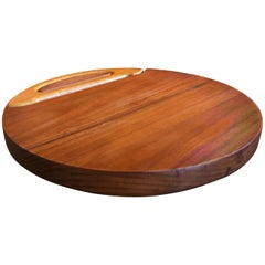 Staved Teak Cheese Board with Cutter by Jens Quistgaard for Dansk