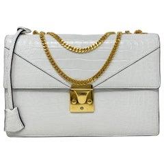 Stavely White Lizard Handbag