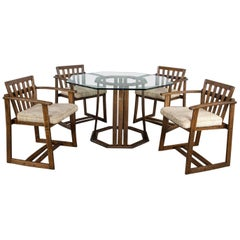 StavOak Dining Game Table & 4 Chairs Jack Daniels' Barrel Staves Jobie G Redmond