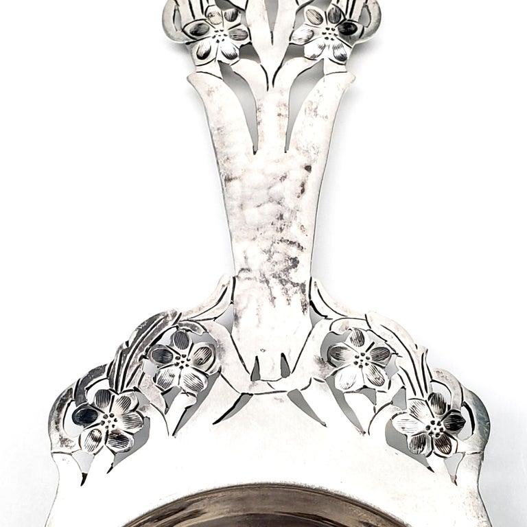 Stavre Gregor Panis Sterling Silver Flower Design Tea Strainer 4