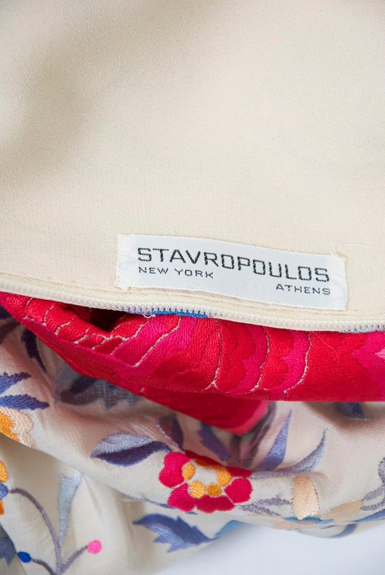 Stavropoulos Embroidered Shawl Dress For Sale 5