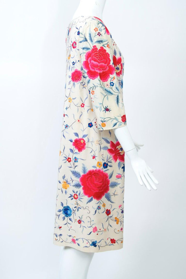 Women's Stavropoulos Embroidered Shawl Dress For Sale