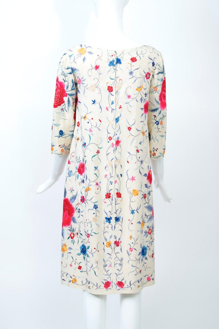 Stavropoulos Embroidered Shawl Dress For Sale 2