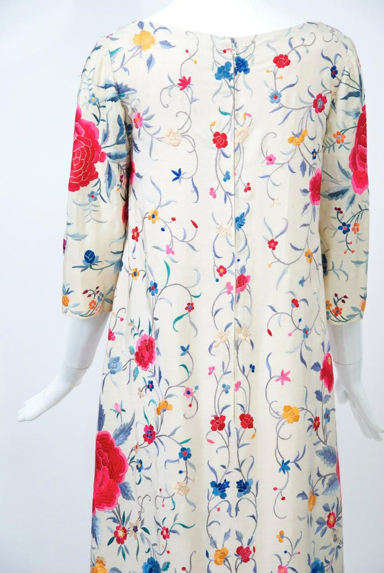 Stavropoulos Embroidered Shawl Dress For Sale 3