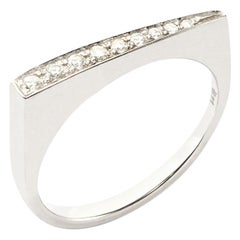 Stax Ring with 0.11 Carat Diamonds in 18 Karat Palladium White Gold