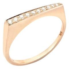 Stax Ring with 0.11 Carat Diamonds in 18 Karat Rose Gold