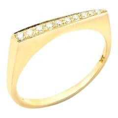 Stax Ring with 0.11 Carat Diamonds in 18 Karat Yellow Gold