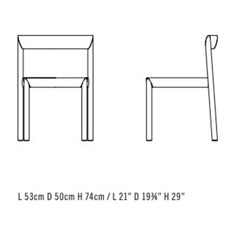 Stax Wood Base Dining Chair, Set of 6, by Niels Bendtsen from Bensen In Excellent Condition For Sale In Vancouver, BC