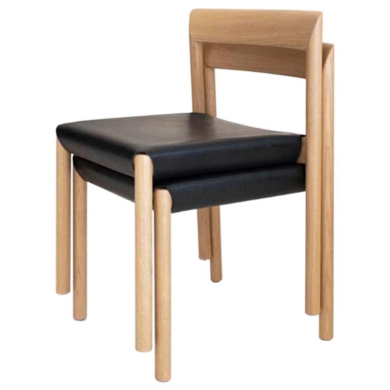 Stax Wood Base Dining Chair, Set of 6, by Niels Bendtsen from Bensen For Sale