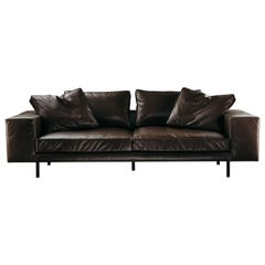 Stay 2-Seat Sofa in Brown Aniline Leather