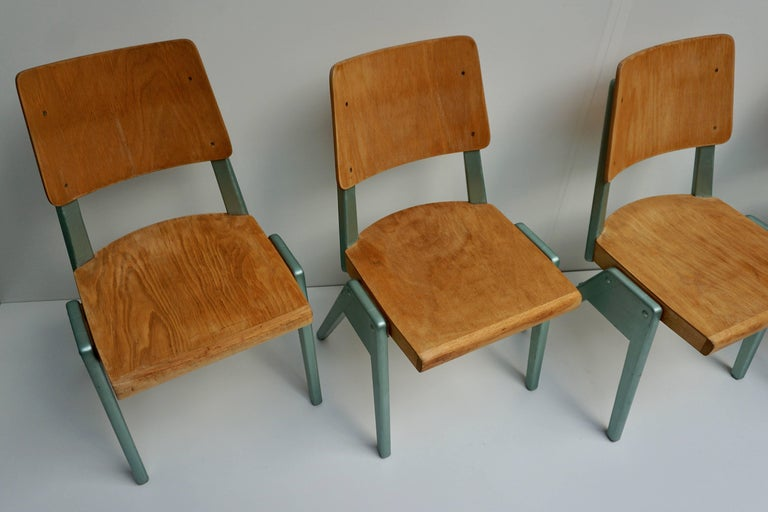 Ste of Four Plywood Dining Chairs For Sale 4
