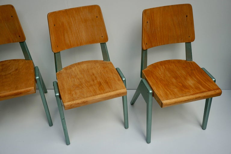 Ste of Four Plywood Dining Chairs For Sale 5