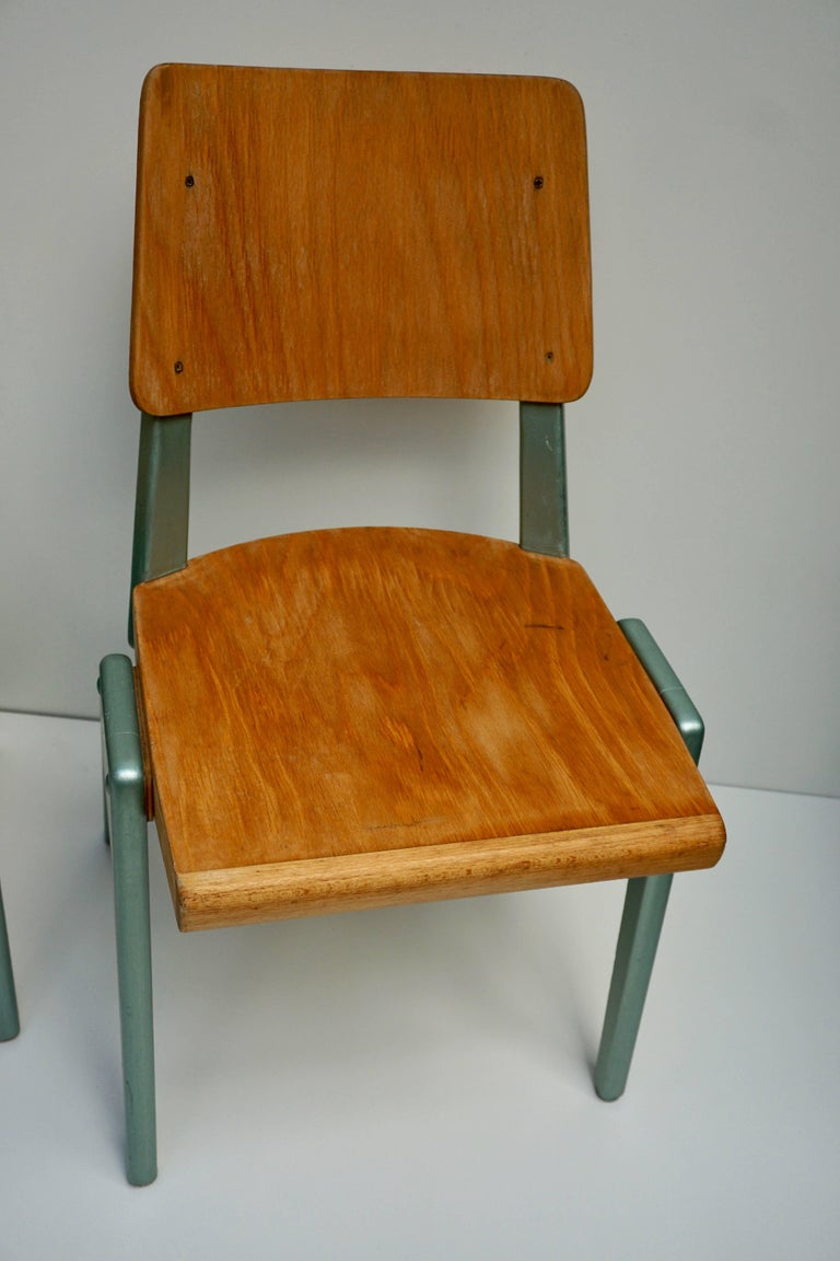 Ste of Four Plywood Dining Chairs For Sale 6