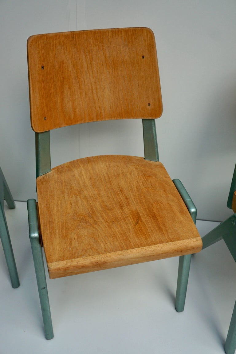 Ste of Four Plywood Dining Chairs For Sale 7