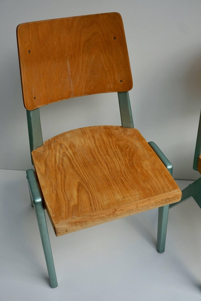 Ste of Four Plywood Dining Chairs For Sale 9