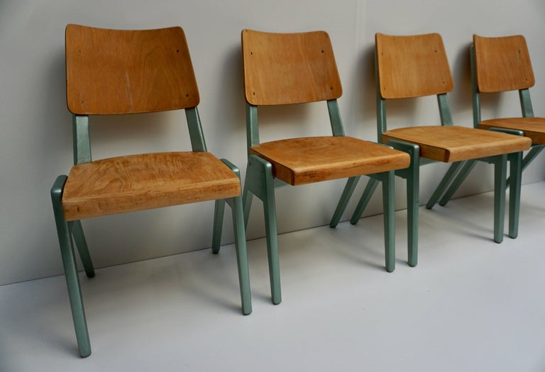 Ste of Four Plywood Dining Chairs For Sale 10