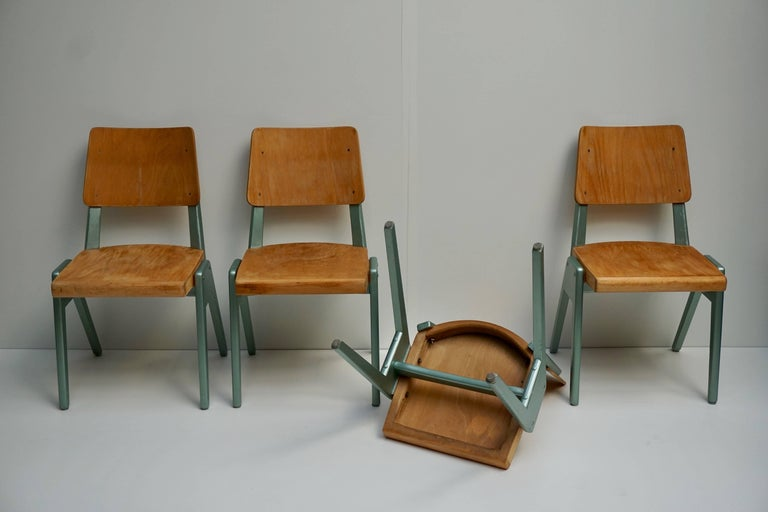 Ste of Four Plywood Dining Chairs For Sale 11