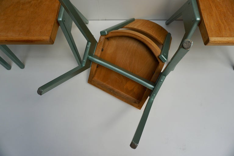 Ste of Four Plywood Dining Chairs For Sale 12