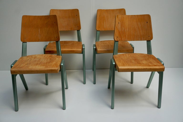 Ste of Four Plywood Dining Chairs For Sale 1