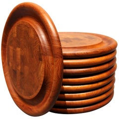 Steak Plates in Massive Teak by Jens Harald Quistgaard, 1960s