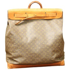 Steamer Bag Leather and Monogram Canvas