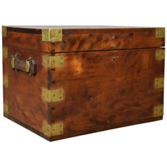 Steamer Chest, Marine, English Travel Ship's Trunk W Insall & Sons, circa 1870