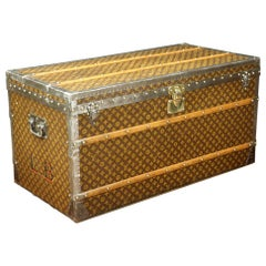 Steamer Louis Vuitton Trunk, with Its Interior in Camphor