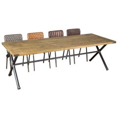 Steamer Pipe Dining Table, 20th Century