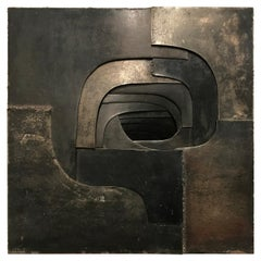 Steel Abstract Sculpture by Amadeo Gabino